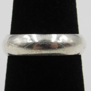 Vintage Size 6.75 Sterling Silver Rustic Wide Band
